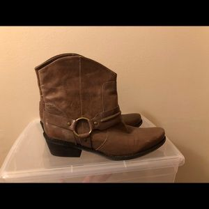 Brand New Franco Sarto booties in Dark Taupe